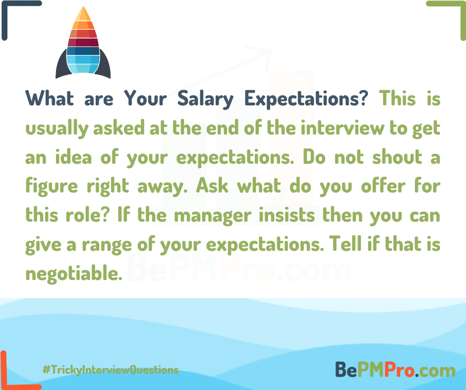 Close to the end of the interview the recruiter asks about salary expectations. – whe9OJ2h4OLao4okmp3O